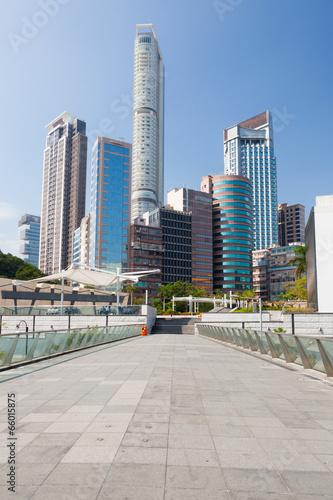 Photo  Tall buildings in hong kong
