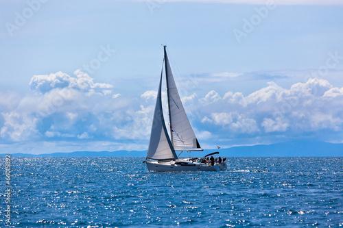Recreational Yacht at Adriatic Sea