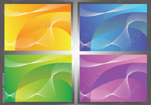 4 color background. Canvas Print