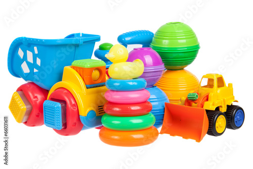 Fotografie, Obraz  baby toys collection isolated on white