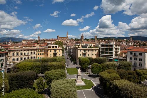 Panorama of Arezzo. Canvas Print