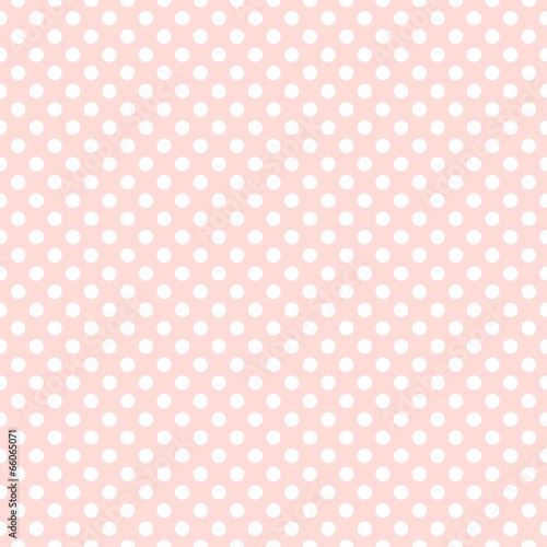 Wall mural - Seamless pink polka dot background