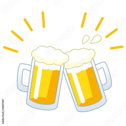 ビール 乾杯 Poster