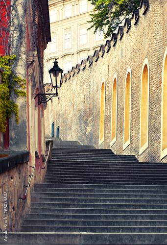 Fototapeta premium Średniowieczne schody w Pradze