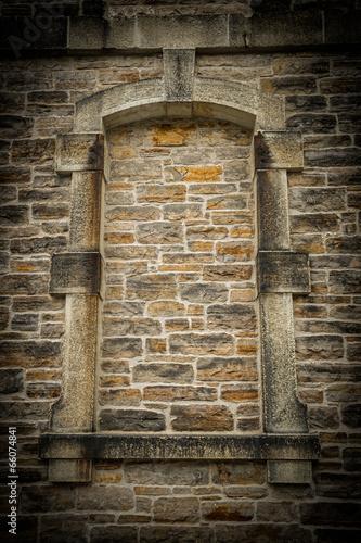 Fotografie, Obraz  Old, Gothic Style Stoned Up Window Frame
