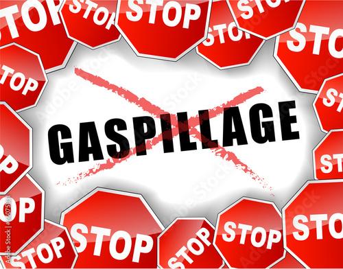 Fotografie, Obraz  Stop gaspillage