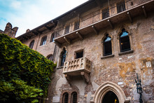 Balcony Of Romeo And Juliet In Verona, Italy .  Romeo And Juliet