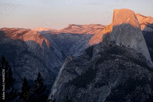 Spoed Foto op Canvas Grijze traf. Half Dome, Yosemite National Park