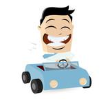 auto fahren fahrzeug cartoon männchen