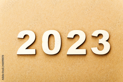 Fotografia  Wooden text for year 2023