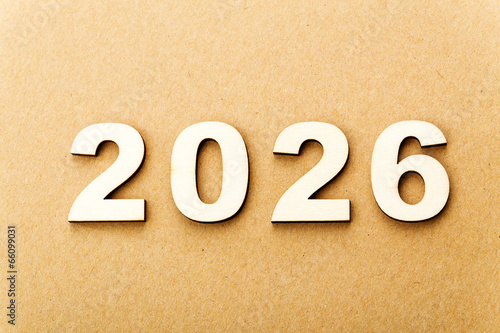 Fotografia  Wooden text for year 2026