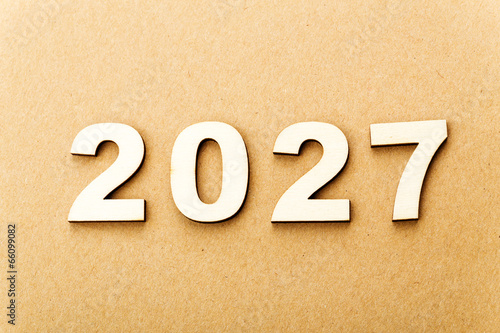 Fotografia  Wooden text for year 2027
