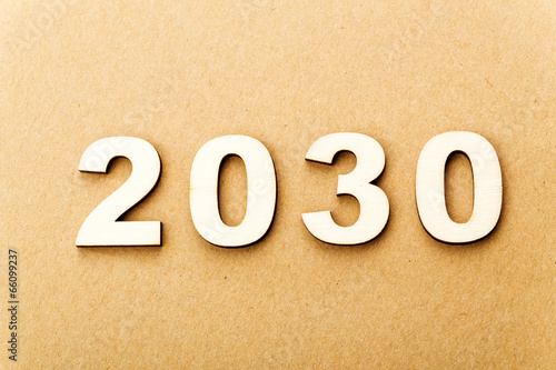 Fotografia  Wooden text for year 2030