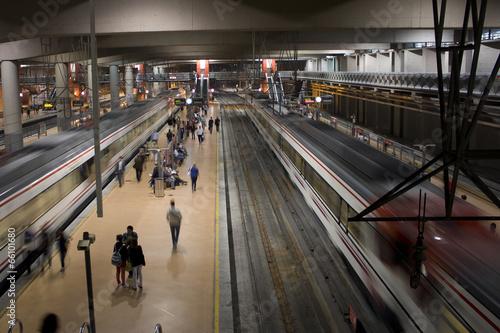 Photo Stands Train Station Estacion de Atocha
