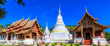 Wat Phra Sing In Chiangmai Province Of Thailand