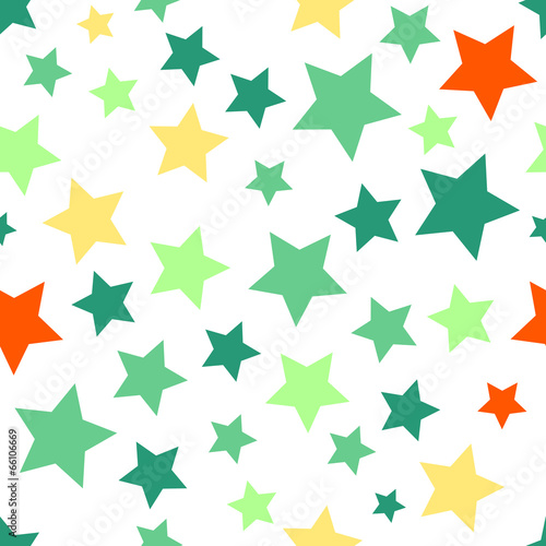Wall mural - Seamless background with colorful stars