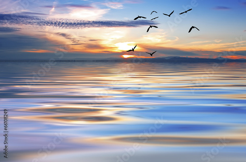 Fototapety, obrazy: ondas de colores en el oceano