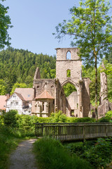 Fototapeta na wymiar Klosterruine Allerheiligen monastery ruins, Oppenau, Black Fores