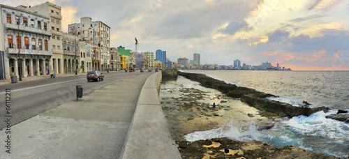 In de dag Havana Havana waterfront panorama