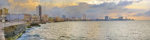 Deurstickers Havana Havana Malecon Panorama