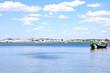 Boat in calm waters of Algarve