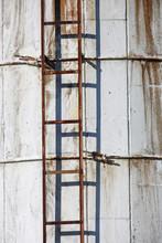Rusty Ladder On Silo