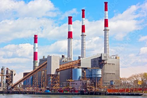 Fotografie, Obraz  Power plant near the water