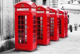 Fototapeta Londyn - Telefonzellen in London im Color-Key-Verfahren
