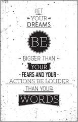 Fototapeta Grunge retro style motivational poster with typography