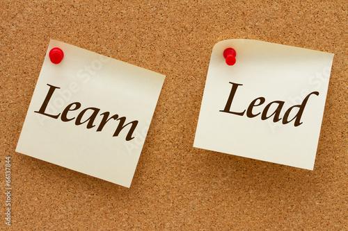 Fotografie, Obraz  Learn and Lead