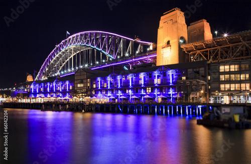 Sydney Vivid Bridge Rocks