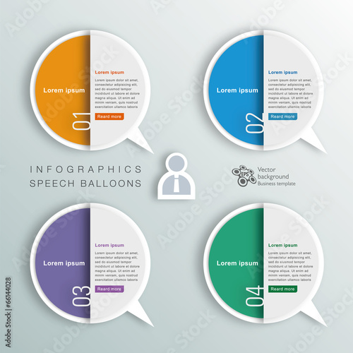 Fototapeta Infographics Background Speech Balloon obraz na płótnie