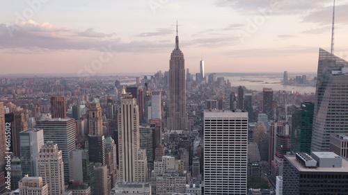 Aerial Sunset timelaspe of Manhattan skyline - New York - USA
