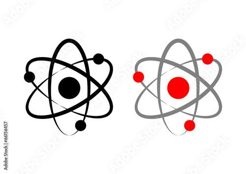 Photo  Atom icons on white background