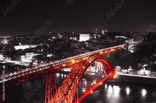 Red Bridge on a monochromatic background