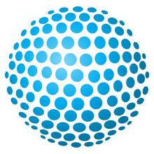 Abstrakte 3D-Kugel Aus Kreisen...