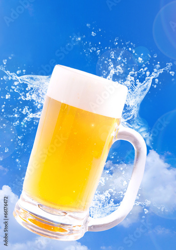 夏のビール Poster
