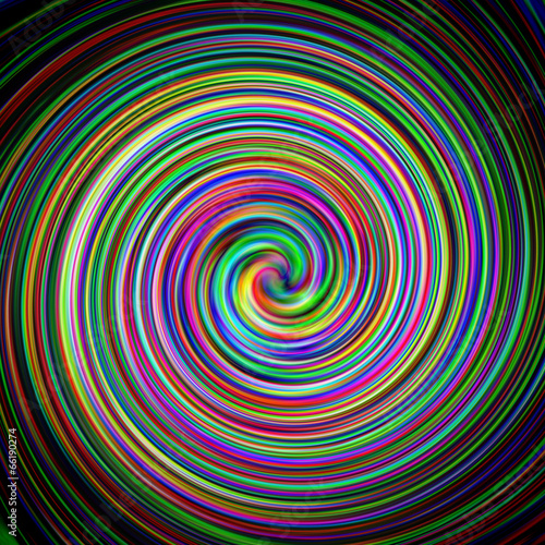 Spoed Fotobehang Psychedelic Renkli Spiral