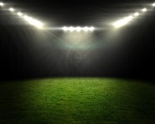 Football Pitch Under Bright Sp...