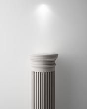 Exhibit Pillar With Light, Render