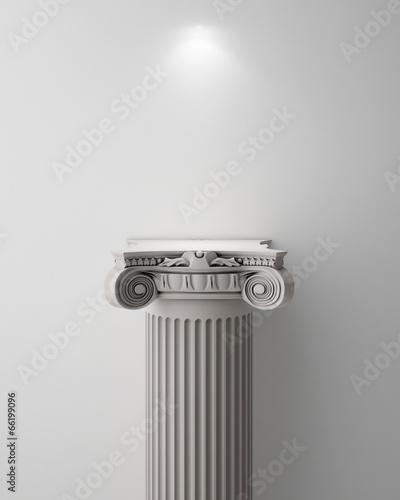 Pinturas sobre lienzo  Exhibit Pillar with Light, render