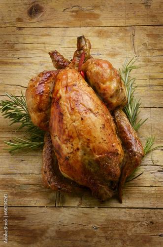 Fotografie, Obraz  Rôtissage Whole roast chicken жаркое из курицы pollo arrosto