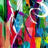 abstract background composition, with paint strokes, splashes an - 66211892