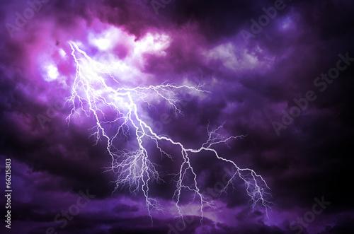 Obraz Lightning strike - fototapety do salonu