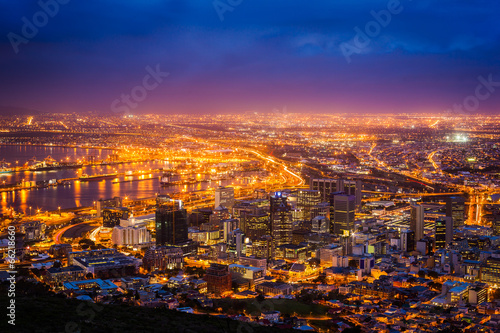Foto op Aluminium Afrika View of Cape Town