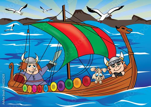 ilustracja dla dzieci wiking
