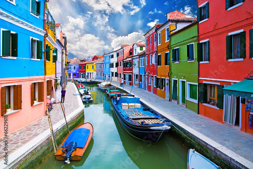 Foto op Plexiglas Venetie Venice, Burano island canal