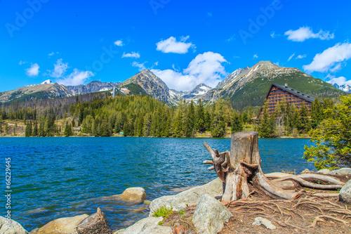 Foto auf Gartenposter Gebirge A panorama of Tatras from Strbske Pleso, Slovakia