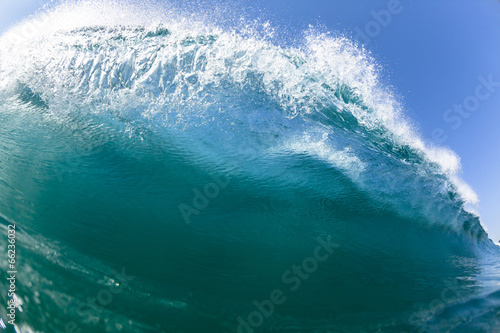 Fotobehang Zee / Oceaan Ocean Sea Wave Swim Crashing Blue Water