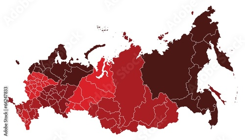 Fotografie, Tablou Map of Russian Federation